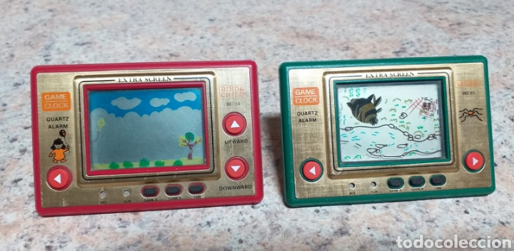 GAME CLOCK SPIDER Y BIRD & CHILD,FUNCIONANDO (Juguetes - Videojuegos y Consolas - Otros descatalogados)