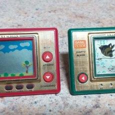 Videojuegos y Consolas: GAME CLOCK SPIDER Y BIRD & CHILD,FUNCIONANDO. Lote 194317780