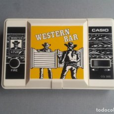 Videojuegos y Consolas: CASIO GAME&WATCH LCD WESTERN BAR CG-300 MINT/NEAR MINT CONDITION FULL WORKING R9968. Lote 194388907