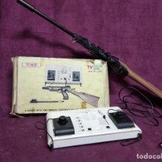 Videojuegos y Consolas: VIDEO CONSOLA VINTAGE, TIPO PONG, CON ESCOPETA, TEMCO T 106 C, CON DOS MANDOS, EN CAJA. Lote 194507582