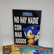 Videojuegos y Consolas: LOTE REVISTAS TODOSEGA SEGA NUMEROS 1 - 4 - 5 Y CATALOGO NO HAY NADIE CON MAS JUEGOS. Lote 194936710