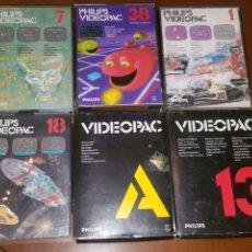 Videojuegos y Consolas: LOTE 6 JUEGOS PARA PHILIPS VIDEOPAC. Lote 195170772