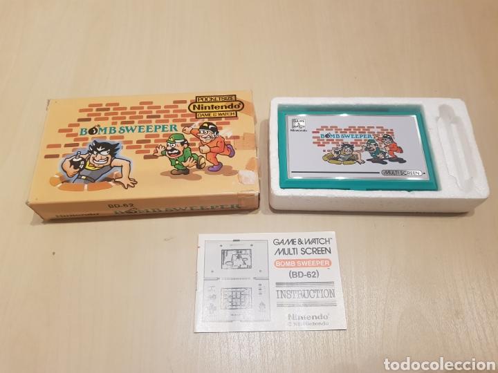 NINTENDO GAME & WATCH BOMB SWEEPER CON CAJA INTRUCCIONES Y FUNCIONANDO GRAN ESTADO (Juguetes - Videojuegos y Consolas - Otros descatalogados)