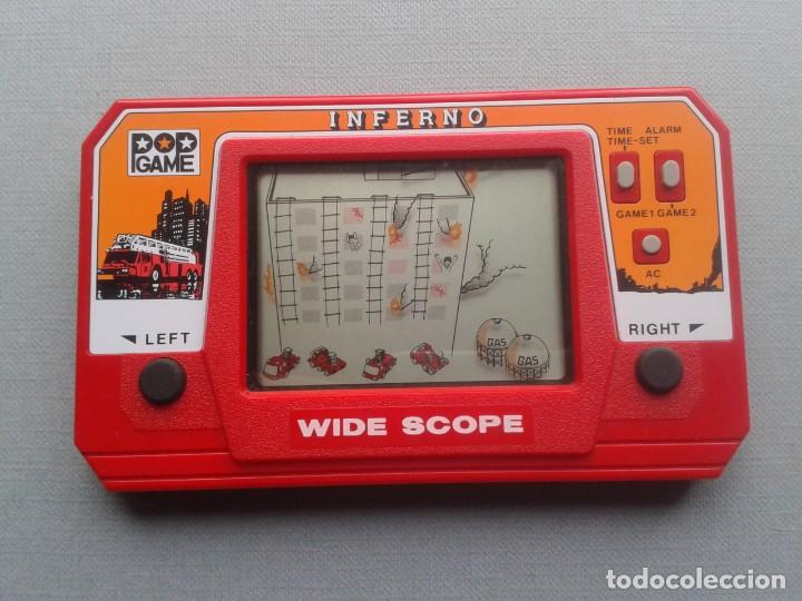 Videojuegos y Consolas: POP GAME GAME&WATCH LCD INFERNO WIDE SCOPE+INSTRUCTION MANUAL FULL WORKING SEE!! R10109 - Foto 3 - 195362772