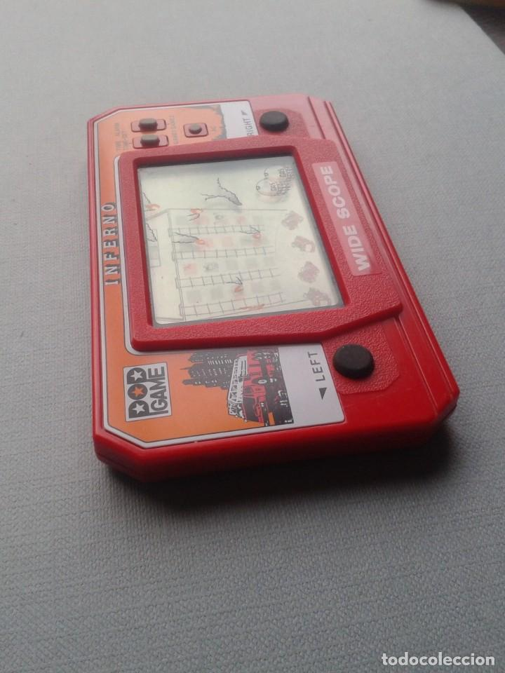 Videojuegos y Consolas: POP GAME GAME&WATCH LCD INFERNO WIDE SCOPE+INSTRUCTION MANUAL FULL WORKING SEE!! R10109 - Foto 5 - 195362772