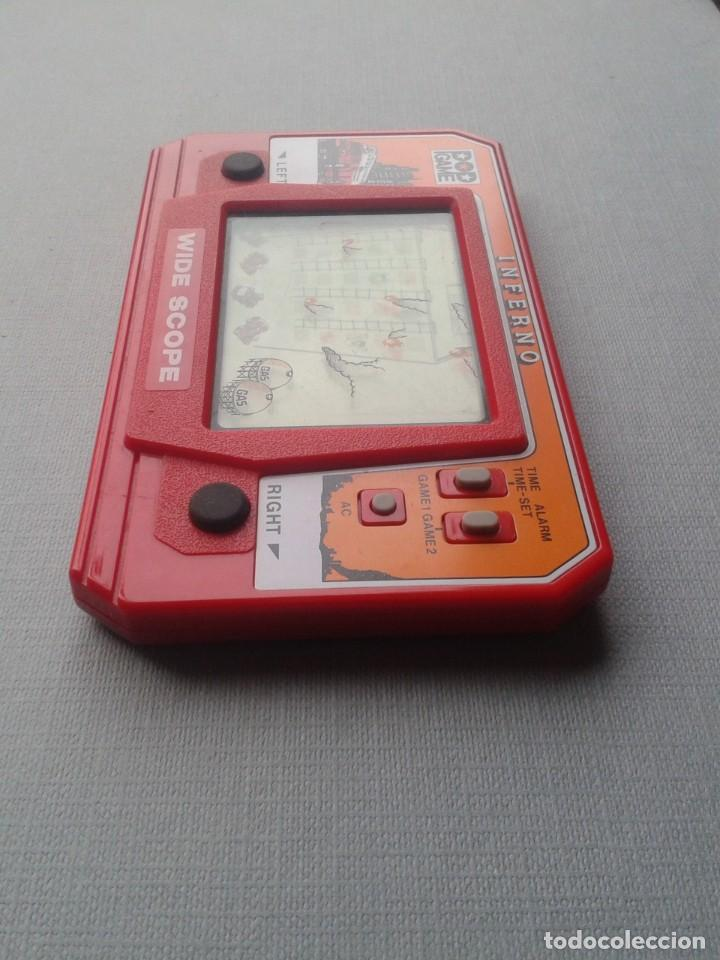 Videojuegos y Consolas: POP GAME GAME&WATCH LCD INFERNO WIDE SCOPE+INSTRUCTION MANUAL FULL WORKING SEE!! R10109 - Foto 6 - 195362772
