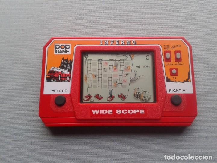 Videojuegos y Consolas: POP GAME GAME&WATCH LCD INFERNO WIDE SCOPE+INSTRUCTION MANUAL FULL WORKING SEE!! R10109 - Foto 10 - 195362772
