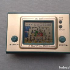 Videojuegos y Consolas: VINTAGE GAME&WATCH LCD LE CHAT ET LA SOURIS VERY GOOD CONDITION FULL WORKING R10114. Lote 195363048