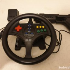 Videojuegos y Consolas: VOLANTE CONSOLA CON MUCHOS JUEGOS EN MEMORIA Y PISTOLA. Lote 198636298