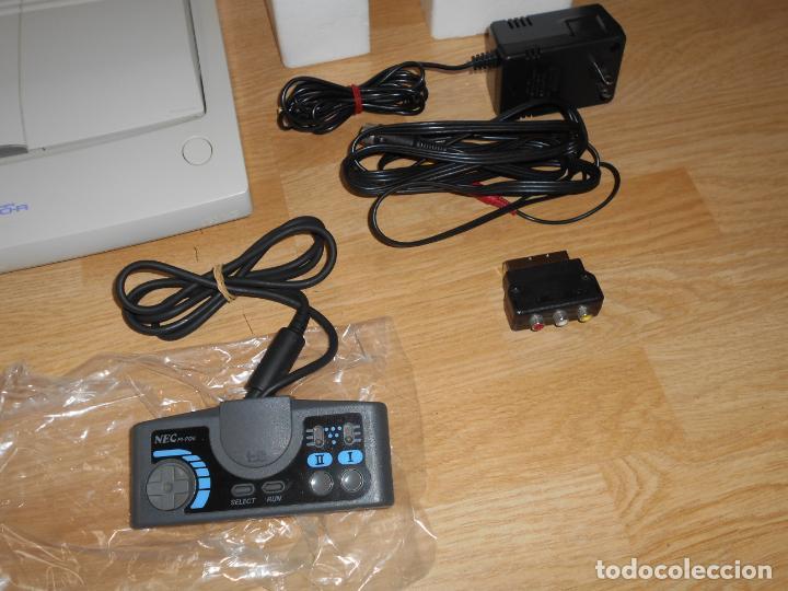 Videojuegos y Consolas: Consola PC ENGINE DUO R con su CAJA Cables PAD y MANUALES - Foto 3 - 198941768