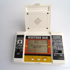 Videojuegos y Consolas: WESTERN BAR - CASIO GAME & WATCH - MOD. CG-300 1984 - FUNCIONANDO. Lote 199886226