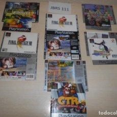Videojuegos y Consolas: GUIAS - PACK DE 6 PORTADA Y CONTRAPORTADAS DE JUEGOS PLAY 1 , EN CASTELLANO. Lote 200883492