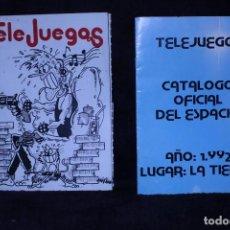 Videojuegos y Consolas: LOTE 2 CATALOGOS TELEJUEGOS REVISTA VIDEOJUEGOS RETRO ARCADE AÑOS 90. Lote 203042372