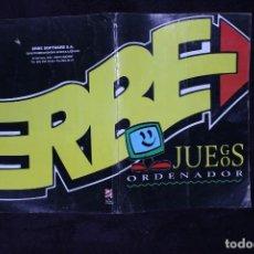 Videojuegos y Consolas: CATALOGO ERBE PC VIDEOJUEGOS RETRO ARCADE AÑOS 90. Lote 203042688