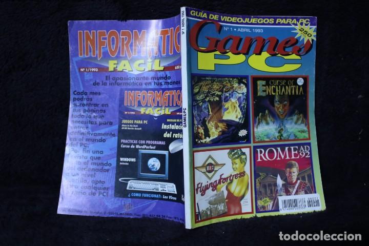 GAMES PC Nº1 REVISTA CATALOGO VIDEOJUEGOS AÑOS 90 RETRO ARCADE VINTAGE (Juguetes - Videojuegos y Consolas - Otros descatalogados)