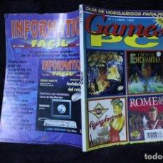 Videojuegos y Consolas: GAMES PC Nº1 REVISTA CATALOGO VIDEOJUEGOS AÑOS 90 RETRO ARCADE VINTAGE. Lote 203043373