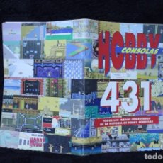 Videojuegos y Consolas: HOBBY CONSOLAS 431 VIDEOJUEGOS REVISTA CATALOGO RETRO ARCADE VINTAGE AÑOS 90. Lote 203043498