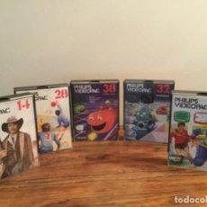 Videojuegos y Consolas: LOTE JUEGOS PARA PHILIPS VIDEOPAC Nº 36,14,28,38,32. AÑOS 80 RETRO VINTAGE. Lote 204177745
