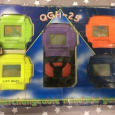 Videojuegos y Consolas: LOTE 5 GAME & WATCH PANTALLAS INTERCAMBIABLES QGH-25. FROG SOCCER BASKET POLO HOCKEY. Lote 205351637