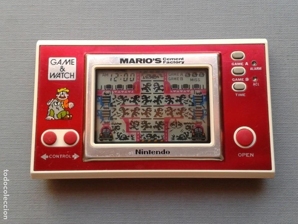NINTENDO GAME&WATCH WIDESCREEN MARIO´S CEMENT FACTORY ML-102 VERY GOOD CONDITION R11053 (Juguetes - Videojuegos y Consolas - Otros descatalogados)