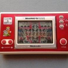 Videojuegos y Consolas: NINTENDO GAME&WATCH WIDESCREEN MARIO´S CEMENT FACTORY ML-102 VERY GOOD CONDITION R11053. Lote 206325307