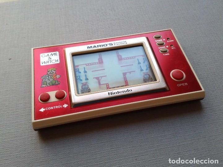Videojuegos y Consolas: NINTENDO GAME&WATCH WIDESCREEN MARIO´S CEMENT FACTORY ML-102 VERY GOOD CONDITION R11053 - Foto 2 - 206325307
