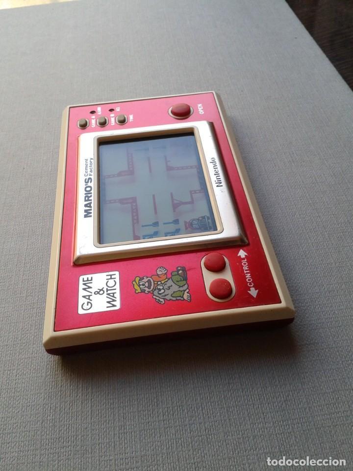 Videojuegos y Consolas: NINTENDO GAME&WATCH WIDESCREEN MARIO´S CEMENT FACTORY ML-102 VERY GOOD CONDITION R11053 - Foto 3 - 206325307