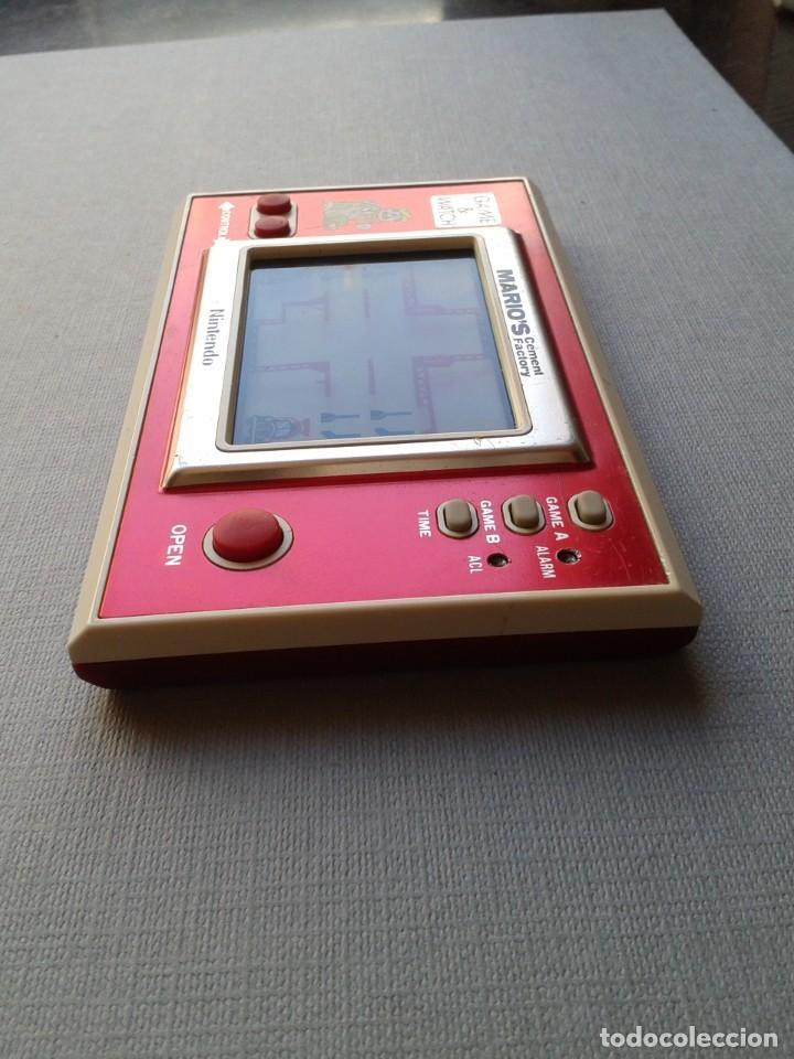 Videojuegos y Consolas: NINTENDO GAME&WATCH WIDESCREEN MARIO´S CEMENT FACTORY ML-102 VERY GOOD CONDITION R11053 - Foto 4 - 206325307