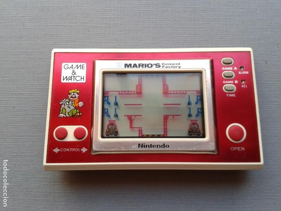 Videojuegos y Consolas: NINTENDO GAME&WATCH WIDESCREEN MARIO´S CEMENT FACTORY ML-102 VERY GOOD CONDITION R11053 - Foto 9 - 206325307