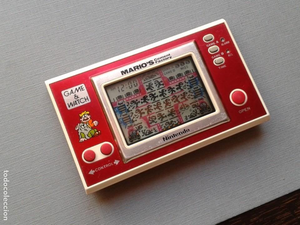 Videojuegos y Consolas: NINTENDO GAME&WATCH WIDESCREEN MARIO´S CEMENT FACTORY ML-102 VERY GOOD CONDITION R11053 - Foto 11 - 206325307