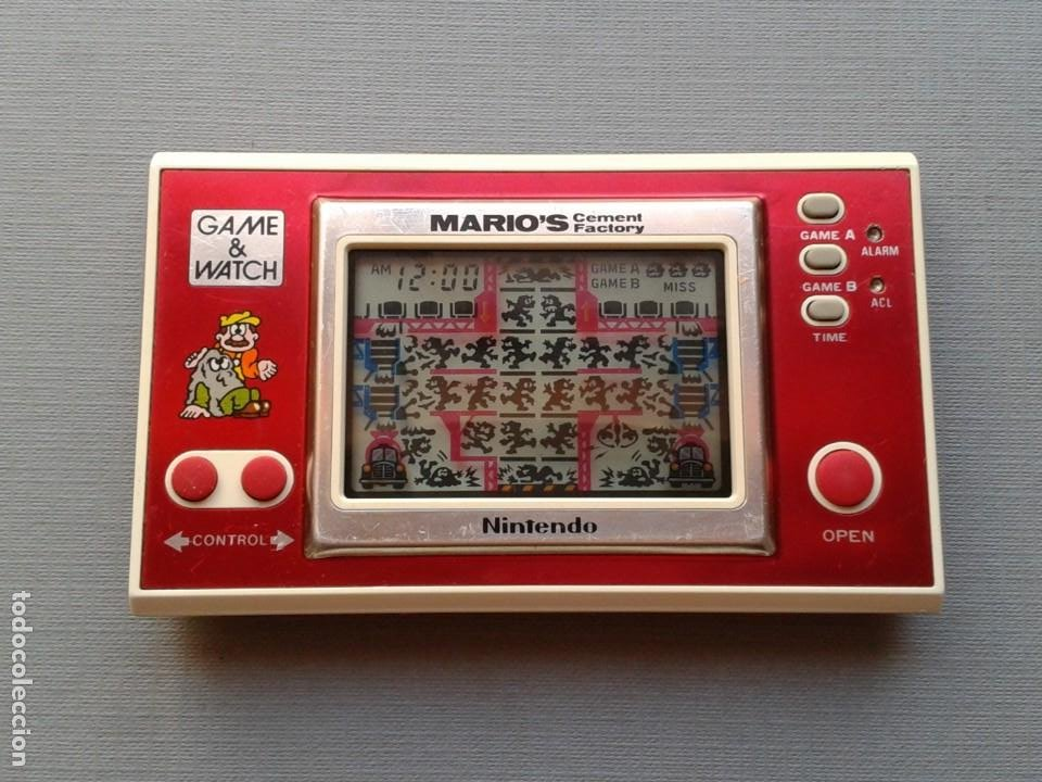 Videojuegos y Consolas: NINTENDO GAME&WATCH WIDESCREEN MARIO´S CEMENT FACTORY ML-102 VERY GOOD CONDITION R11053 - Foto 12 - 206325307