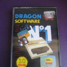 Jeux Vidéo et Consoles: DRAGON SOFTWARE Nº1- CASETE SIN PRECINTO- 10 PROGRAMAS - ROTACIO - ESTADATA - ETC.... Lote 206434487