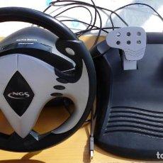 Videojuegos y Consolas: VOLANTE NGS RACING STORM VIBRATION - PC USB. Lote 206459697