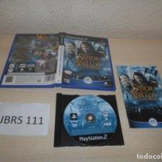 Videojuegos y Consolas: PS2 - EL SEÑOR DE LOS ANILLOS - LAS DOS TORRES , PAL ESPAÑOL , COMPLETO. Lote 206915938
