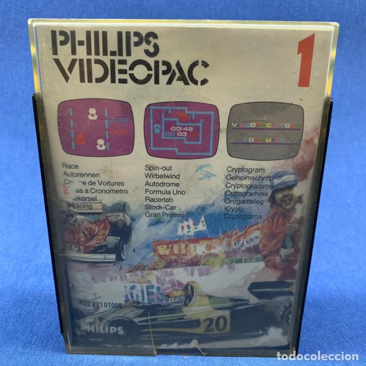 JUEGO PARA PHILIPS VIDEOPAC 1 - CARRERA - RACE - CRIPTOGRAMA - CON CAJA E INSTRUCCIONES (Juguetes - Videojuegos y Consolas - Otros descatalogados)