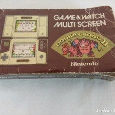 Videojuegos y Consolas: NINTENDO GAME & WATCH MULTISCREEN/DONKEY KONG II/EN CAJA Y CON TARA.. Lote 207177982