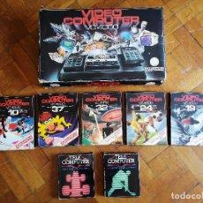 Videojuegos y Consolas: VIDEO COMPUTER VC4000 DE INTERTON ELECTRONIC. CONSOLA DE VIDEOJUEGOS + 7 JUEGOS. FINALES AÑOS 70. Lote 207649982