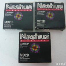 Videojuegos y Consolas: CAJA DISKETTES 5.25 NASHUA X3 / IBM PC / RETRO VINTAGE / DISQUETES. Lote 208387558
