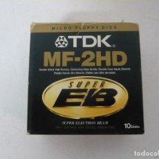 Videojuegos y Consolas: 10 DISKETTES DE ALTA DENSIDAD TDK / 3.5 HD / IBM PC / RETRO VINTAGE / DISQUETES. Lote 208388087