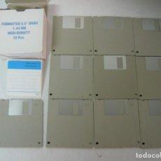 Videojuegos y Consolas: 10 DISKETTES DE ALTA DENSIDAD / 3.5 HD / IBM PC / RETRO VINTAGE / DISQUETES. Lote 208388191