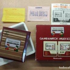 Videojuegos y Consolas: NINTENDO GAME&WATCH MULTISCREEN MARIO BROS 1983 FUNCIONA. ORIGINAL.. Lote 210322252