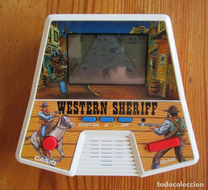 MAQUINITA JUEGO ELECTRÓNICO WESTERN SHERIFF, CASIO 1987 EN FUNCIONAMIENTO (Juguetes - Videojuegos y Consolas - Otros descatalogados)