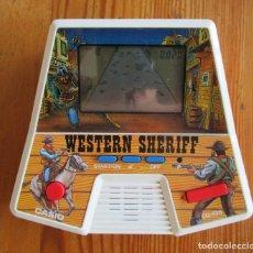 Videogiochi e Consoli: MAQUINITA JUEGO ELECTRÓNICO WESTERN SHERIFF, CASIO 1987 EN FUNCIONAMIENTO. Lote 210332328