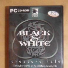 Videojuegos y Consolas: PC / CD-ROM - JUEGO: BLACK & WHITE, CREATURE ISLE - DISCO DE EXPANSION - EA GAMES -. Lote 210819112