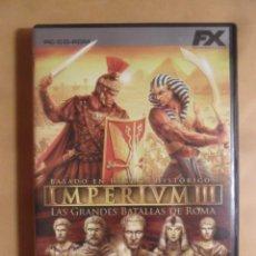 Videojuegos y Consolas: PC CD-ROM - IMPERIUM III, LAS GRANDES BATALLAS DE ROMA - HAEMIMONT GAMES. Lote 210821992