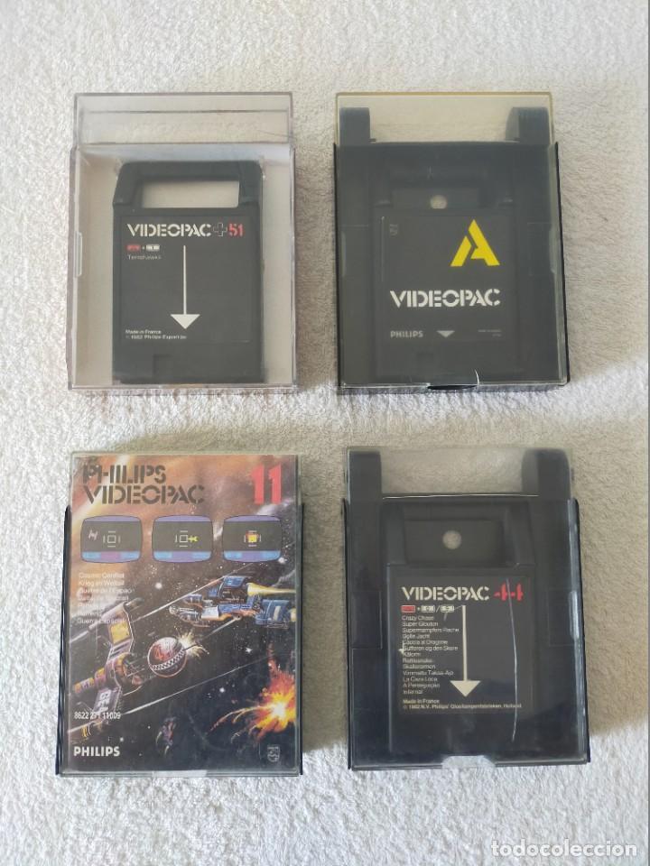 Videojuegos y Consolas: CONSOLA PHILIPS VIDEOPAC G7400 - CON 2 JOYSTICKS - 4 CARTUCHOS DE JUEGO - Foto 10 - 211419831
