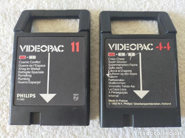 Videojuegos y Consolas: CONSOLA PHILIPS VIDEOPAC G7400 - CON 2 JOYSTICKS - 4 CARTUCHOS DE JUEGO - Foto 11 - 211419831