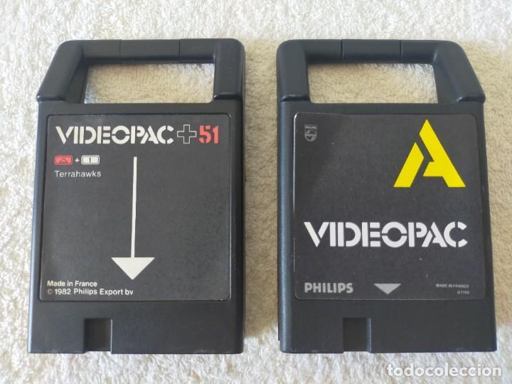 Videojuegos y Consolas: CONSOLA PHILIPS VIDEOPAC G7400 - CON 2 JOYSTICKS - 4 CARTUCHOS DE JUEGO - Foto 12 - 211419831