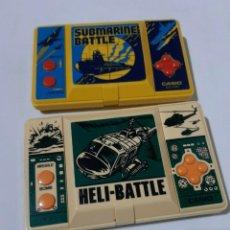 Videojuegos y Consolas: MAQUINITAS CASIO SUBMARINE BATTLE + HELI BATTLE (SIN SONIDO,SIN TAPA). Lote 215080048
