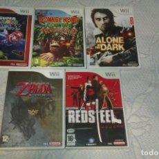 Videojuegos y Consolas: LOTE JUEGOS WII,GALAXY,DONKEY,ZELDA. Lote 218613633